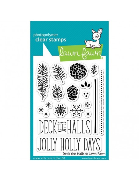 "Lawn Fawn Clear Stamps 3""X4"", Deck The Halls"