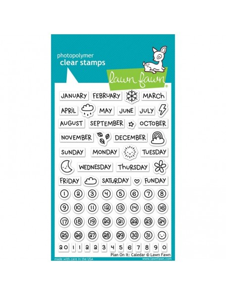 "Lawn Fawn Clear Stamps 4""X6"", Plan On It: Calendar"
