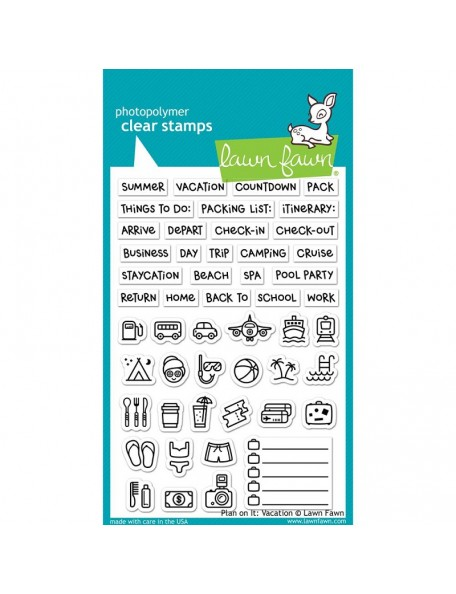 "Lawn Fawn Clear Stamps 4""X6"", Plan On It: Vacation"