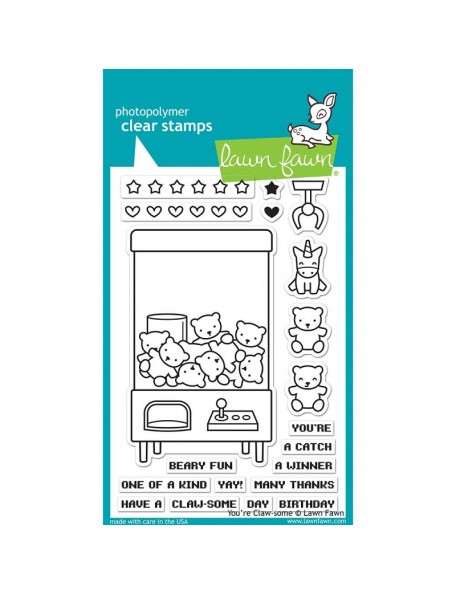 """Lawn Fawn Clear Stamps 4""""X6"""", You're Claw-some"""
