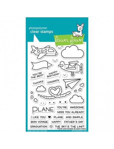 "Lawn Fawn Clear Stamps 4""X6"", Plane & Simple"