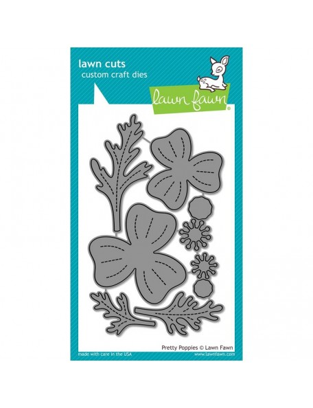 Lawn Cuts Custom Craft Die-Pretty Poppies