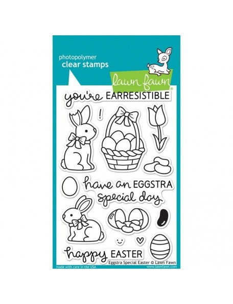 "Lawn Fawn Eggstra Special Easter Clear Stamps 4""X6"""