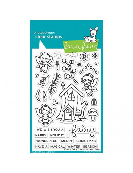 "Lawn Fawn Clear Stamps 4""X6"" Frosty Fairy Friends"