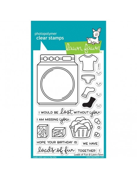 "Lawn Fawn Loads Of Fun Clear Stamps 4""X6"""