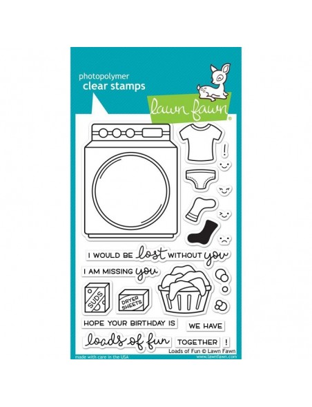 """Lawn Fawn Loads Of Fun Clear Stamps 4""""X6"""""""