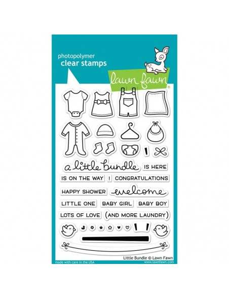 """Lawn Fawn Little Bundle Clear Stamps 4""""X6"""""""