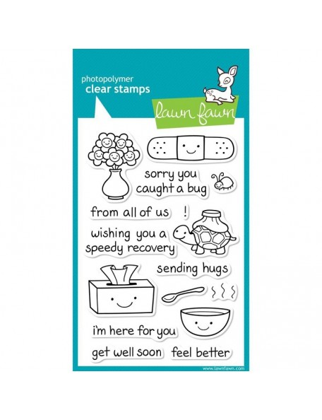 "Lawn Fawn - On The Mend Clear Stamps 4""X6"""