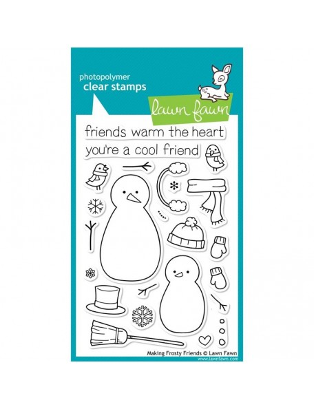 "Lawn Fawn Making Frosty Friends Clear Stamps 4""X6"""