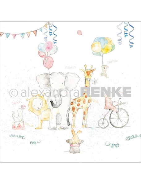 "Alexandra Renke Circus Cardstock de una cara 12""X12"" (30,5x30,5 cm)"