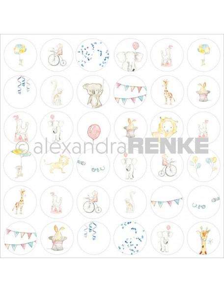 "Alexandra Renke Circus Design Paper 12""X12"", Circle"