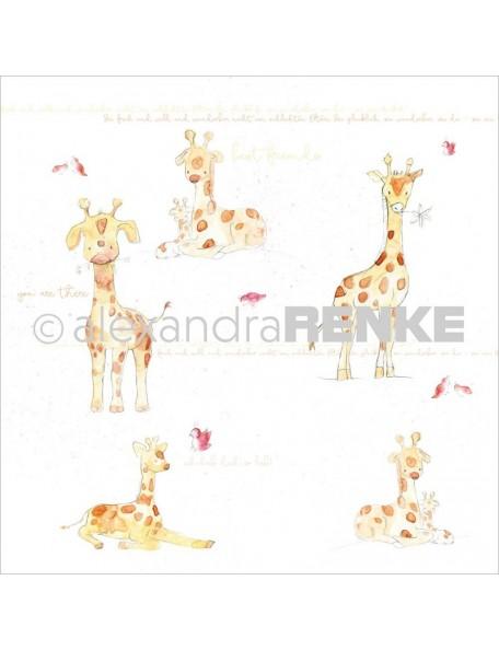 "Alexandra Renke Girafa Cardstock de una cara 12""X12"" (30,5x30,5 cm)"