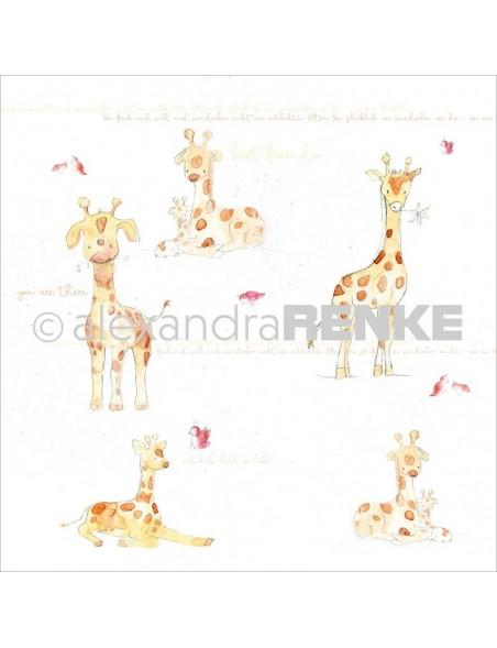 Alexandra Renke Cardstock de una cara 30,5x30,5 cm, Girafa