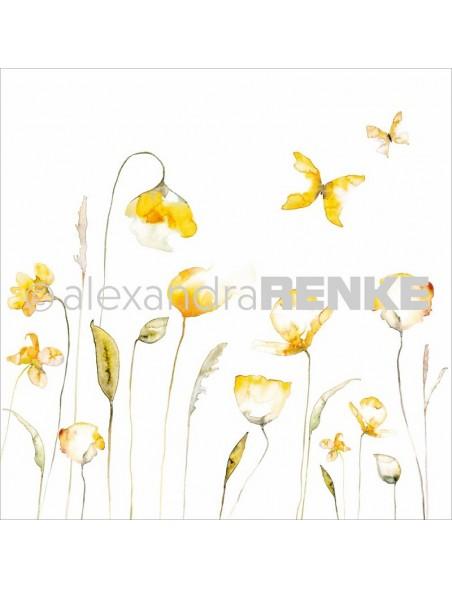 "Alexandra Renke Poppy Design Paper 12""X12"", Yellow"