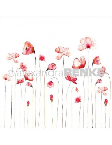 Alexandra Renke Cardstock una cara 30,5x30,5 cm, Amapola Roja/Roter Mohn