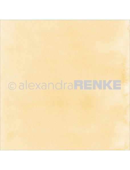 "Alexandra Renke Mimi's Basic Design Paper 12""X12"" , Yellow Watercolor"