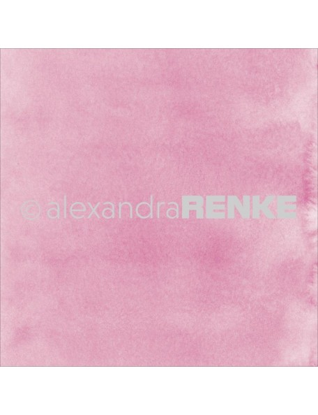 "Alexandra Renke Mimi's Basic Design Paper 12""X12"" , Bright Pink Watercolor"