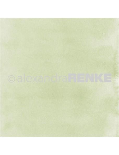 Alexandra Renke Cardstock de una cara 30,5x30,5 cm , Mimi's Basic Shamrock Green Watercolor