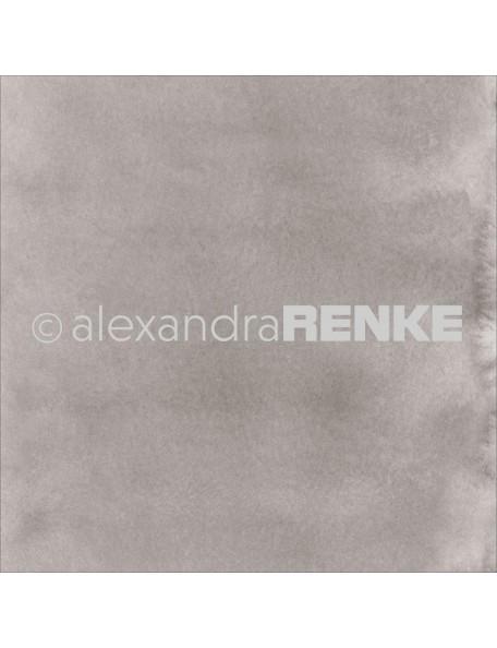 "Alexandra Renke Mimi's Basic Design Paper 12""X12"" , Medium Mud Watercolor"