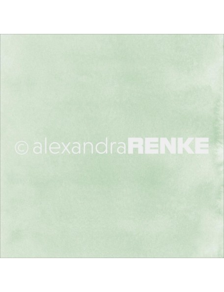 "Alexandra Renke Mimi's Basic Design Paper 12""X12"" , Bright Green Watercolor"