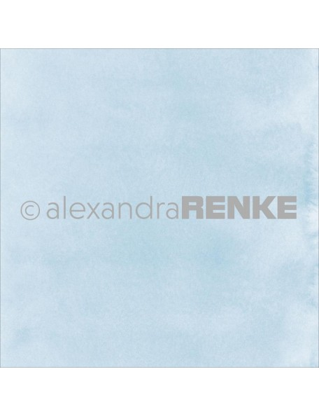 "Alexandra Renke Mimi's Basic Design Paper 12""X12"" , Light Blue Watercolor"