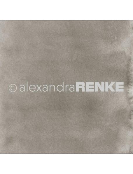 Alexandra Renke Cardstock de una cara 30,5x30,5 cm, Mimi's Basic Dark Mud Watercolor