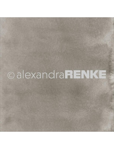 "Alexandra Renke Mimi's Basic Design Paper 12""X12"" , Dark Mud Watercolor"