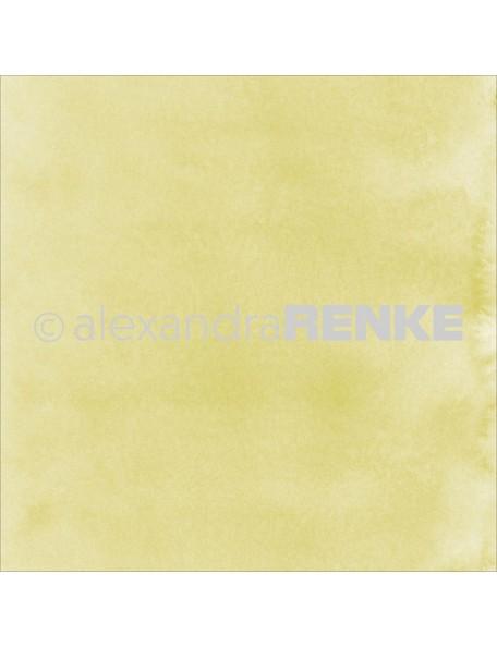 "Alexandra Renke Mimi's Basic Design Paper 12""X12"" , May Green Watercolor"