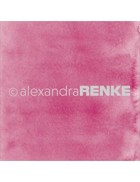 Alexandra Renke Cardstock de una cara 30,5x30,5 cm, Mimi's Basic Dark Pink Watercolor