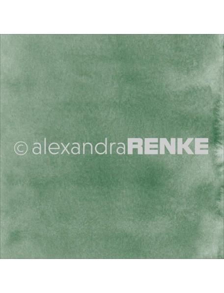 Alexandra Renke Cardstock de una cara 30,5x30,5 cm, Mimi's Basic Dark Green Watercolor