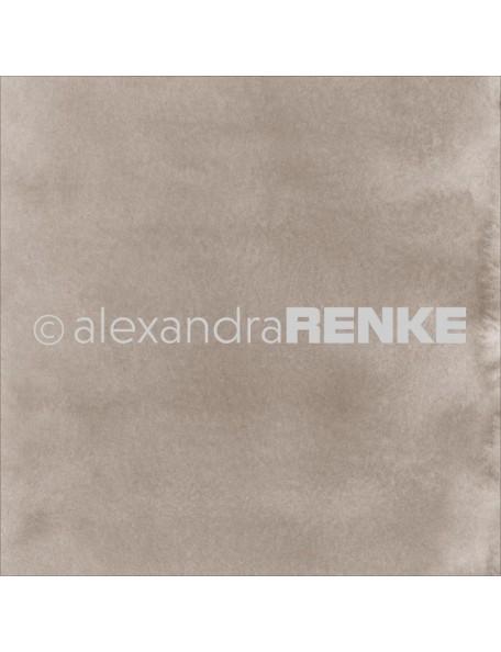 Alexandra Renke Cardstock de una cara 30,5x30,5 cm, Mimi's Basic Dark Porcini Watercolor