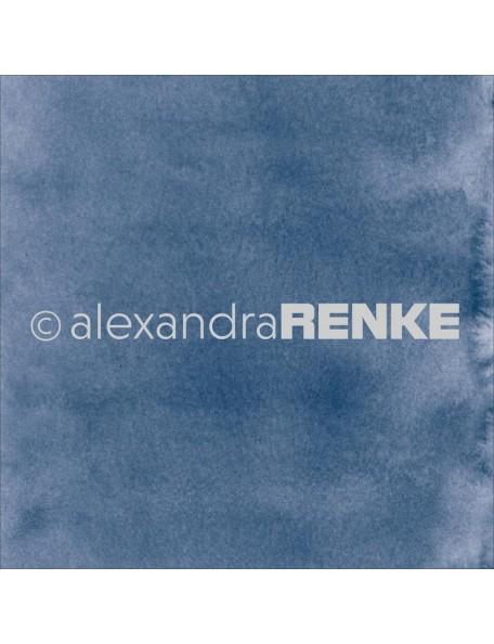 Alexandra Renke Cardstock de una cara 30,5x30,5 cm, Mimi's Basic Cornflower Blue Watercolor