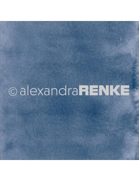"Alexandra Renke Mimi's Basic Design Paper 12""X12"" , Cornflower Blue Watercolor"