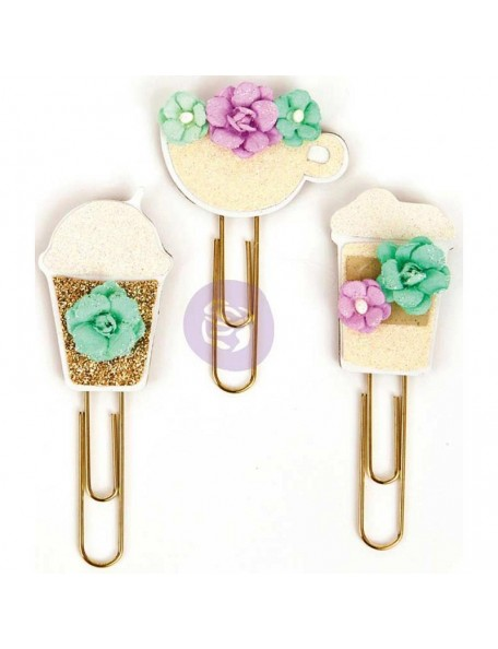 My Prima Planner Clips Coffee & Tea Lover