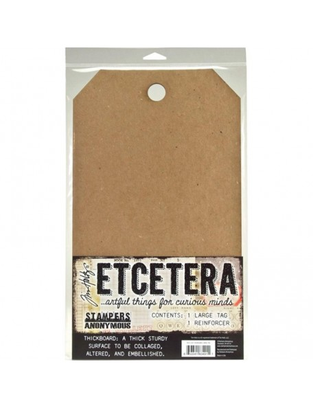 "Tim Holtz Etcetera Large Tag 8.25""X14.25"""