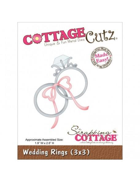 "CottageCutz Die Wedding Rings 1.9""X2.6"" -DESCATALOGADO!!!-"