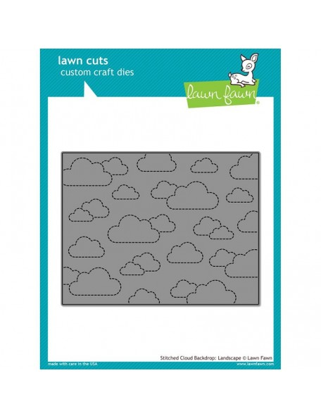 Lawn Cuts Custom Craft Die, Stitched Cloud Backdrop Landscape