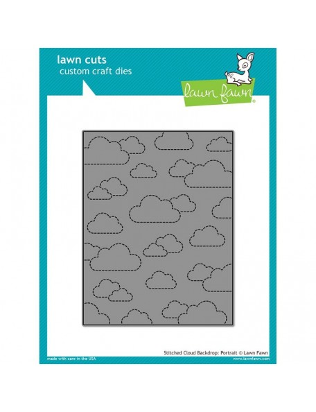 Lawn Cuts Custom Craft Die Stitched Cloud Backdrop: Portrait