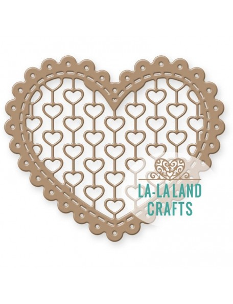 "La La Land Die Lacy Heart, 2.5""X3"""