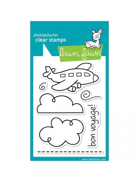 """Lawn Fawn Clear Stamps 3""""X4"""" Bon Voyage"""