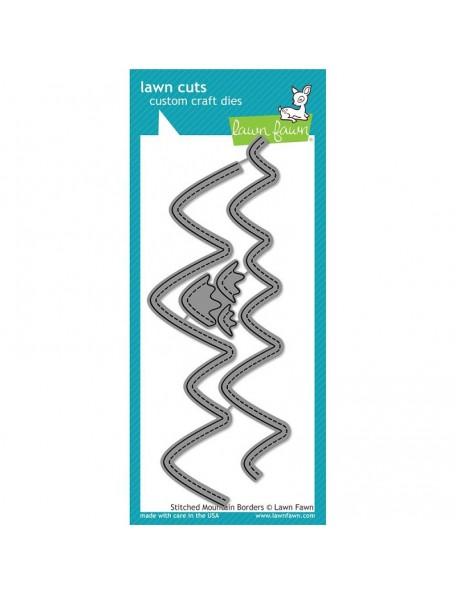 "Lawn Cuts Custom Craft Border Die-Stitched Mountain, 1""X6"""