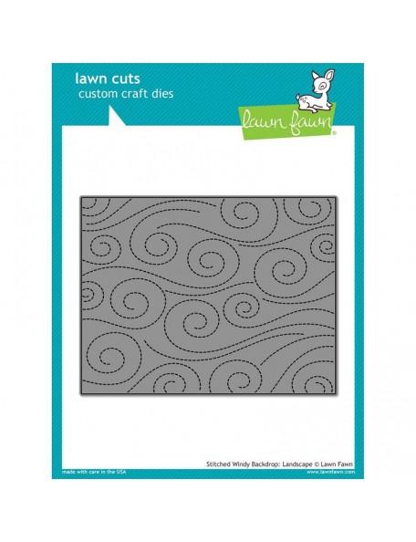 Lawn Fawn Cuts Custom Craft Die, Stitched Windy Backdrop