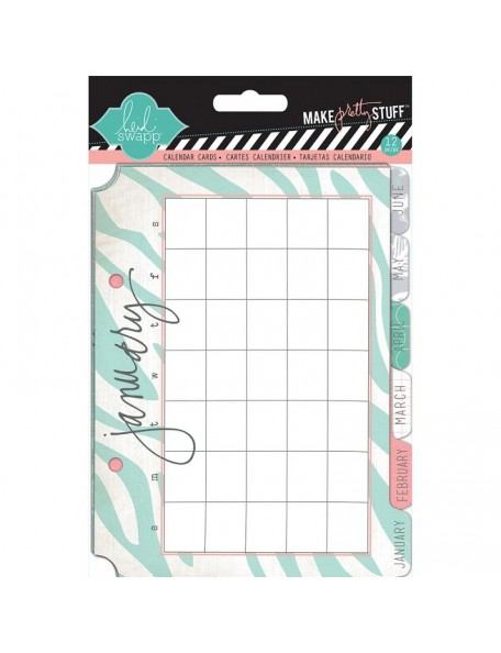 "Heidi Swapp Tabbed Calendar Cards 5""X7"" 12, Undated January Through December"