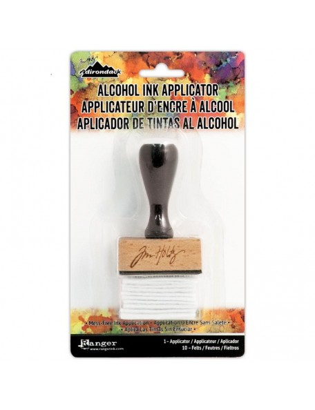 Tim Holtz Adirondack Alcohol Ink Applicator-Stamp Handle W/10 Felts