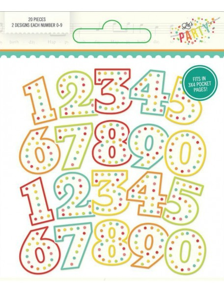 Let'S Party Pocket Pieces Die-Cuts 20 Numbers 2ea of 0 - 9