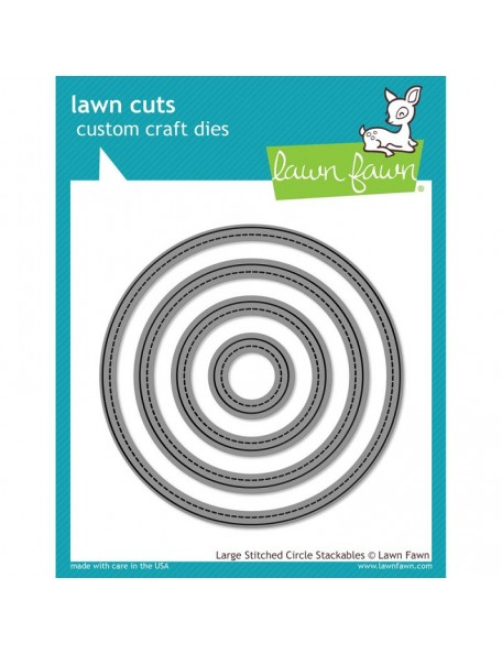 "Lawn Cuts Custom Craft Stackables Dies, Large Stitched Circles, 1"" To 4"""