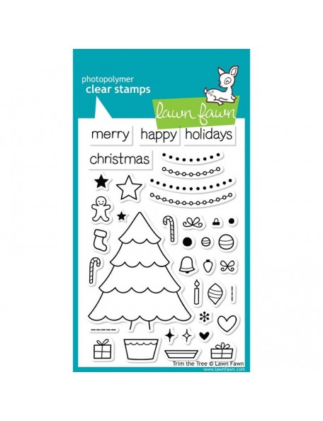 "Lawn Fawn Trim The Tree Clear Stamps 4""X6"""