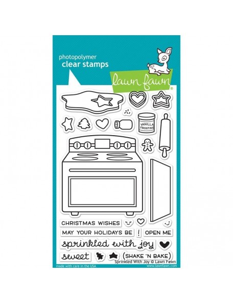 "Lawn Fawn Sprinkle With Joy Clear Stamps 4""X6"""