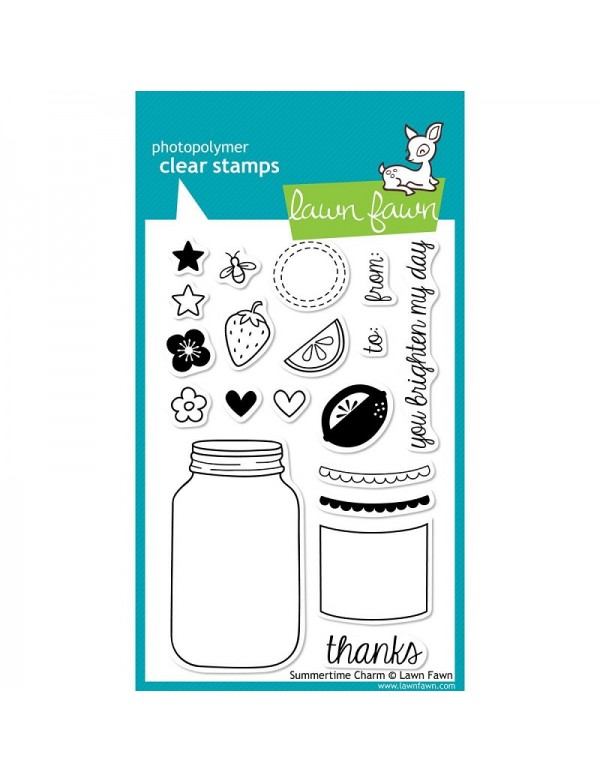 """Lawn Fawn Summertime Charm Clear Stamps 4""""X6"""""""