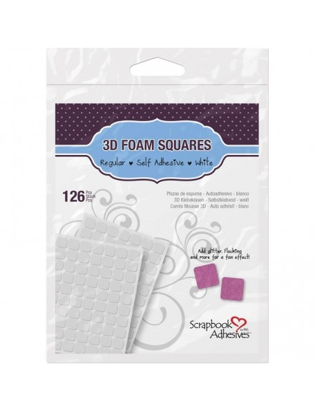"Scrapbook Adhesives 3D Self-Adhesive Foam Squares 126 Blanco, .5""X.5"""